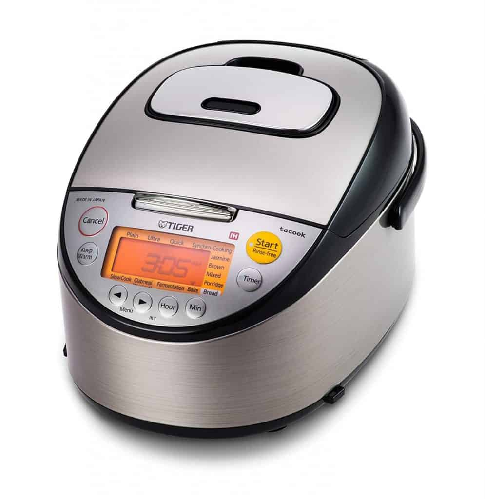 Tiger JKT-S10U IH Stainless Steel Multi-Functional Rice Cooker With Tacook Cooking Plate