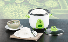 Rice Cooker with Virus Background