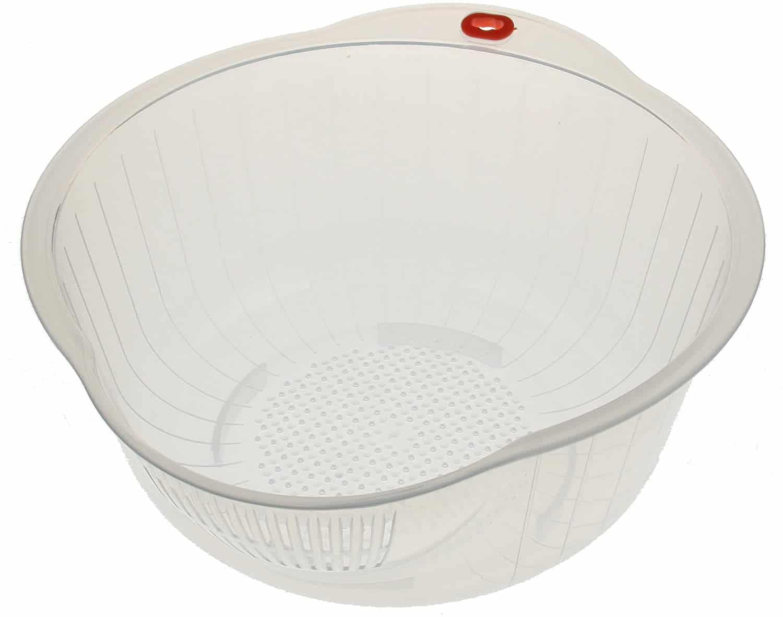 Kotobuki Japanese Rice Washer with Dual Drain