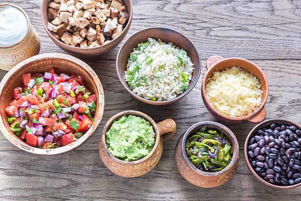 Chicken Burrito Bowls: ingredients