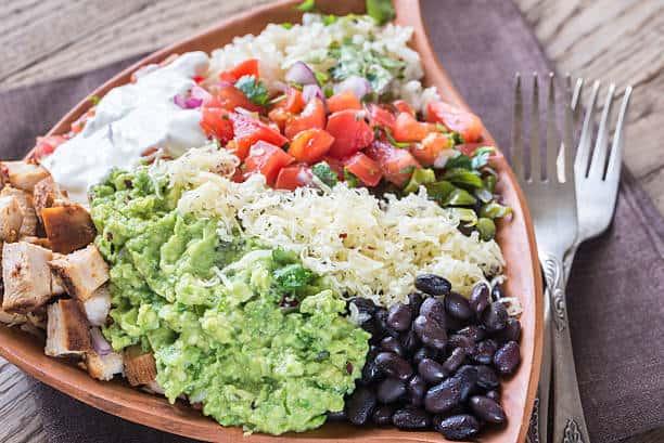 Chicken Burrito Bowls Closeup