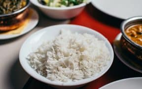 Rice cooked in pressure cooker