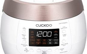 Cuckoo 6-Cup Twin Pressure Plate Rice Cooker & Warmer CRP-RT0609FW