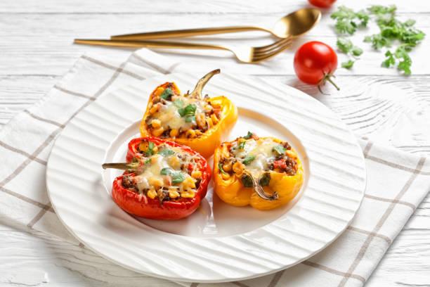 Creamy Turkey and Rice Stuffed Peppers Recipe